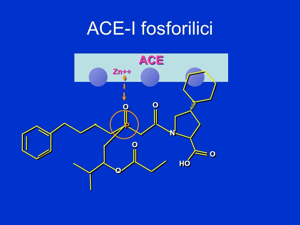 ACE-I fosforilici Zn++ ACE O O O O O O P P N N O O O O HO