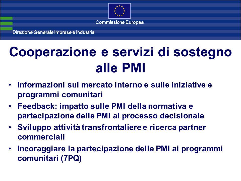 Direzione Generale Imprese Direzione Generale Imprese e Industria Commissione Europea Cooperazione e servizi di sostegno alle PMI Informazioni sul mer