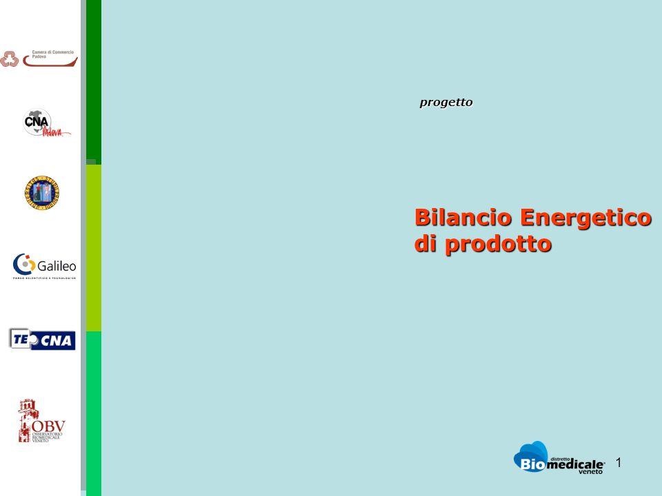 1 progetto progetto Bilancio Energetico di prodotto