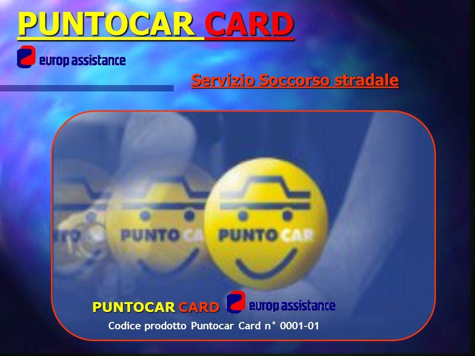 Servizio Soccorso stradale PUNTOCAR CARD Codice prodotto Puntocar Card n° 0001-01