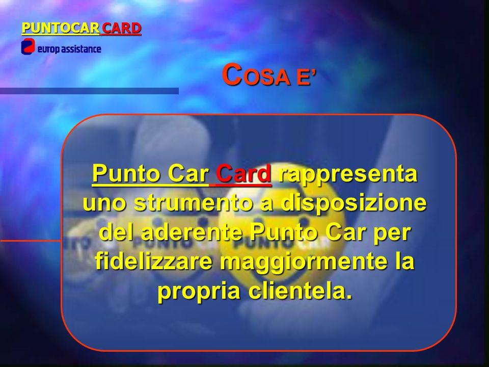 Punto Car Cardrappresenta uno strumento a disposizione del aderente Punto Car per fidelizzare maggiormente la propria clientela. Punto Car Card rappre