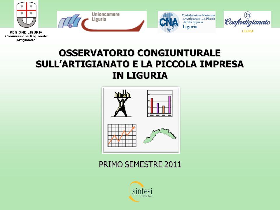 OSSERVATORIO CONGIUNTURALE SULLARTIGIANATO E LA PICCOLA IMPRESA IN LIGURIA PRIMO SEMESTRE 2011