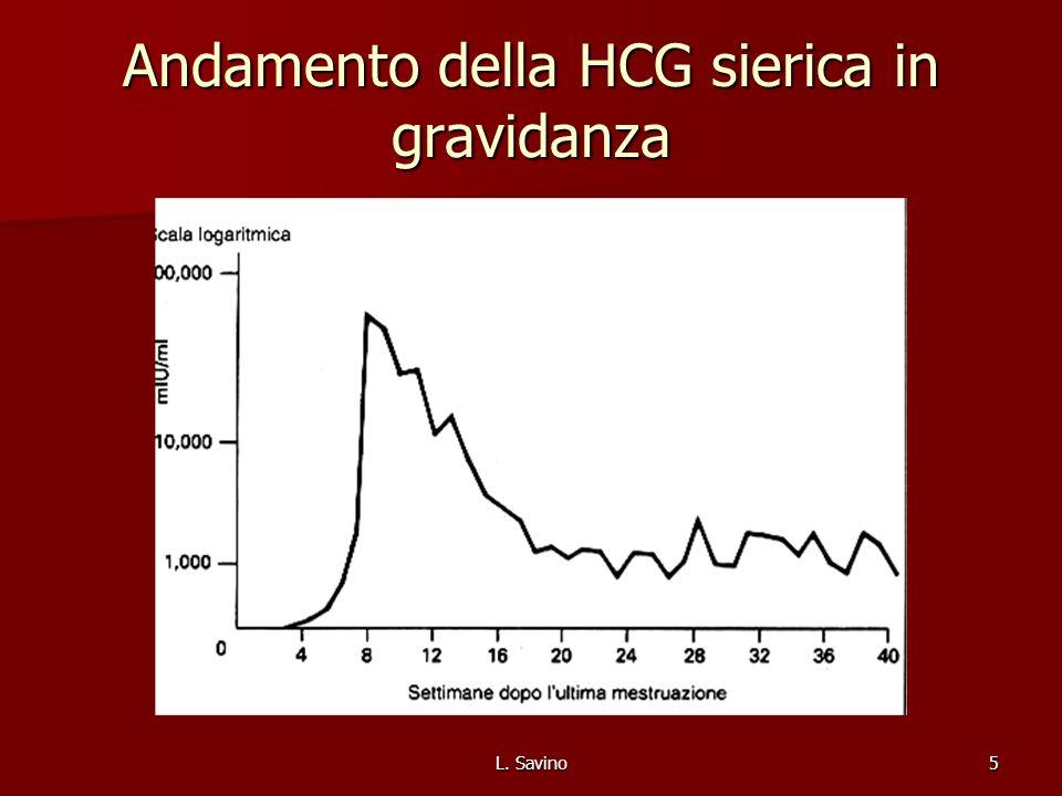 L. Savino5 Andamento della HCG sierica in gravidanza