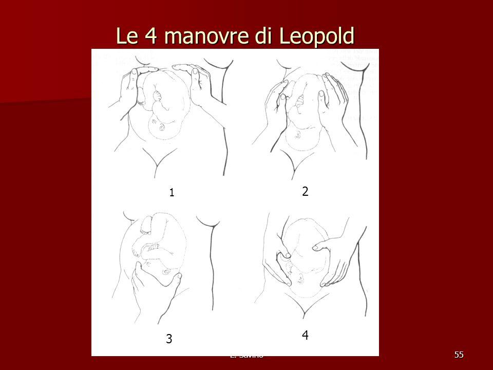 L. Savino55 Le 4 manovre di Leopold 1 2 3 4