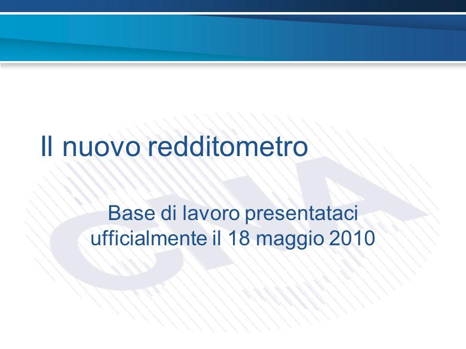 Il nuovo redditometro Base di lavoro presentataci ufficialmente il 18 maggio 2010