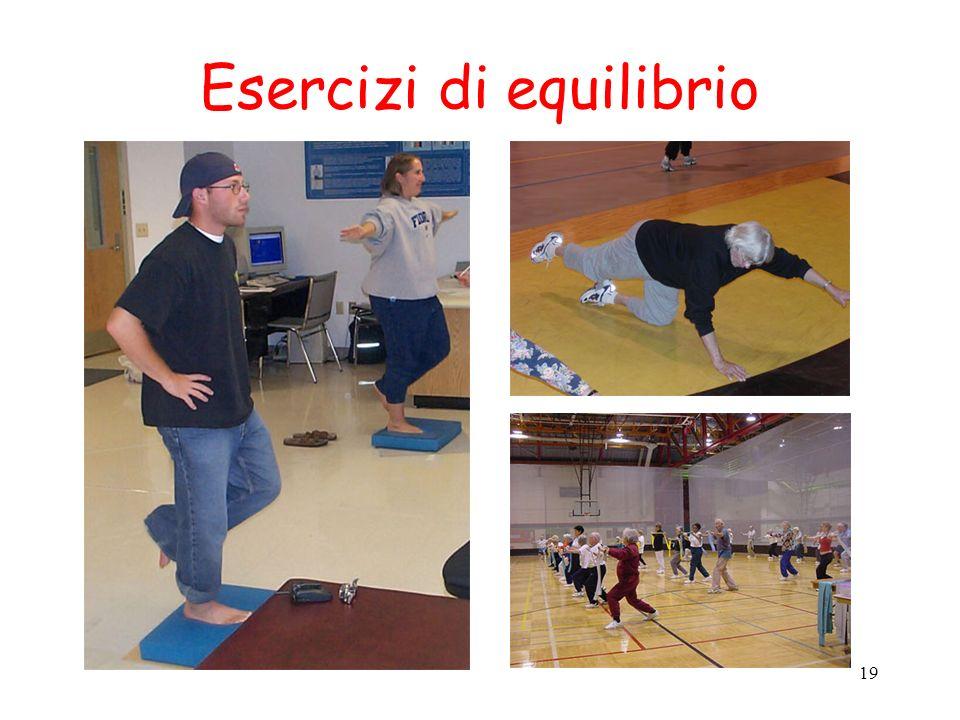 19 Esercizi di equilibrio