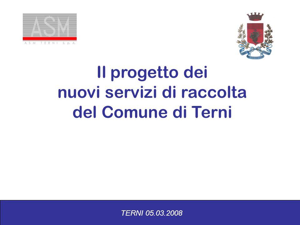 Il progetto dei nuovi servizi di raccolta del Comune di Terni TERNI 05.03.2008