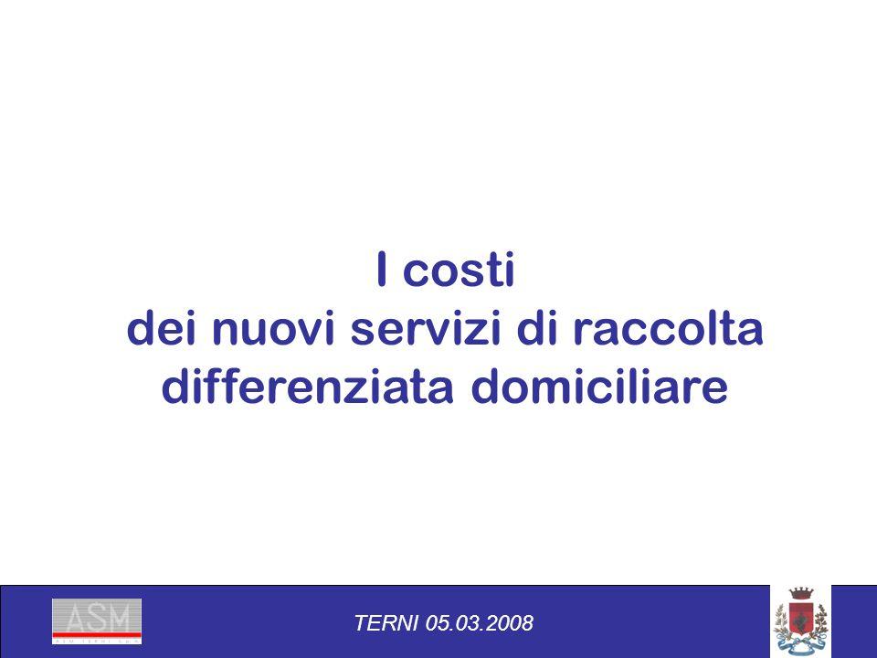 I costi dei nuovi servizi di raccolta differenziata domiciliare TERNI 05.03.2008
