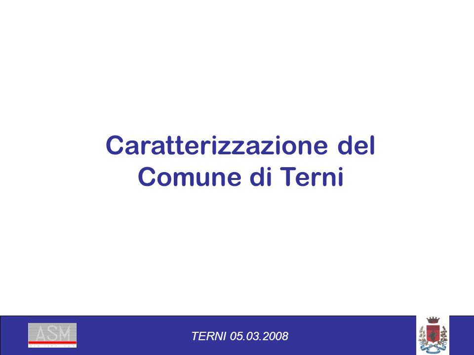Caratterizzazione del Comune di Terni TERNI 05.03.2008