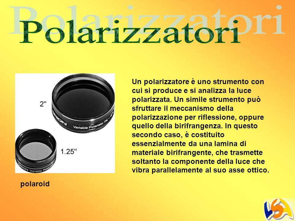 Un polarizzatore è uno strumento con cui si produce e si analizza la luce polarizzata. Un simile strumento può sfruttare il meccanismo della polarizza