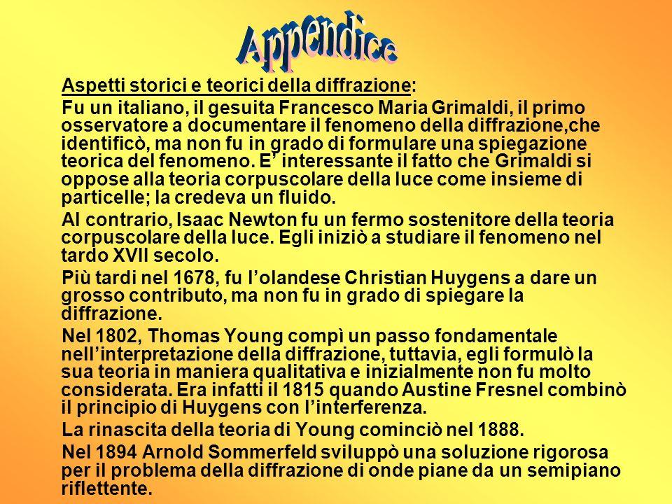 Aspetti storici e teorici della diffrazione: Fu un italiano, il gesuita Francesco Maria Grimaldi, il primo osservatore a documentare il fenomeno della