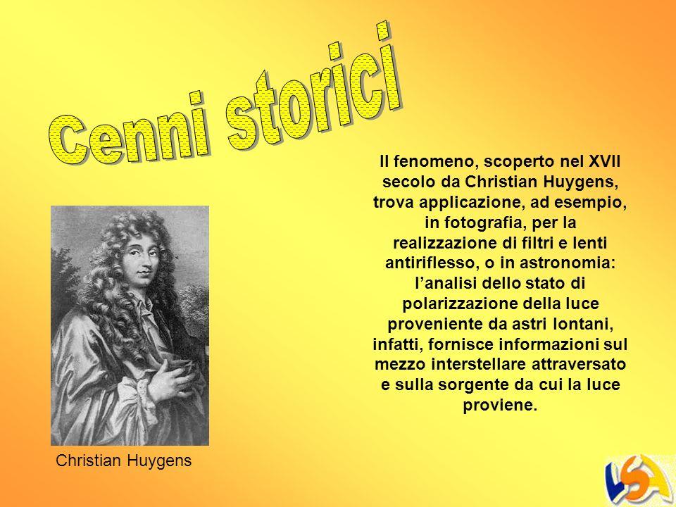 Il fenomeno, scoperto nel XVII secolo da Christian Huygens, trova applicazione, ad esempio, in fotografia, per la realizzazione di filtri e lenti anti