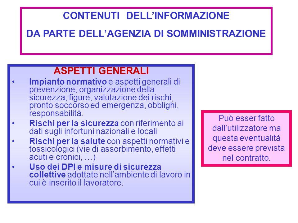 ASPETTI GENERALI Impianto normativo e aspetti generali di prevenzione, organizzazione della sicurezza, figure, valutazione dei rischi, pronto soccorso