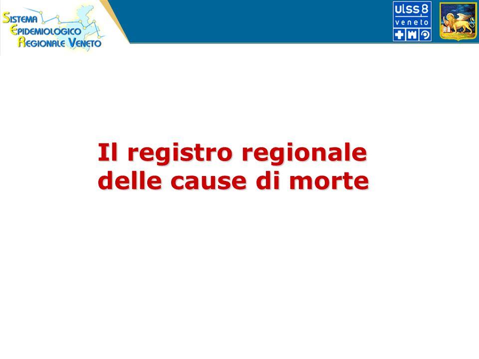 Il registro regionale delle cause di morte