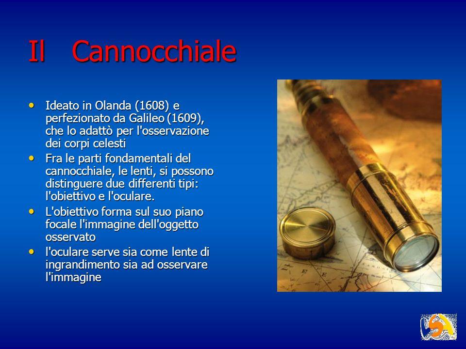 Il Cannocchiale Ideato in Olanda (1608) e perfezionato da Galileo (1609), che lo adattò per l'osservazione dei corpi celesti Ideato in Olanda (1608) e