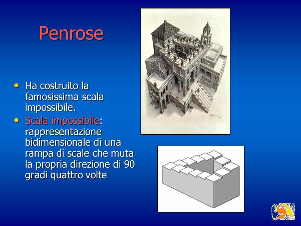 Penrose Ha costruito la famosissima scala impossibile. Ha costruito la famosissima scala impossibile. Scala impossibile: rappresentazione bidimensiona