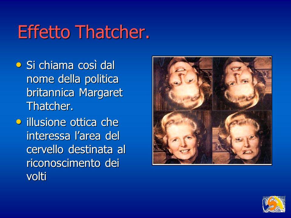 Effetto Thatcher. Si chiama così dal nome della politica britannica Margaret Thatcher. Si chiama così dal nome della politica britannica Margaret That