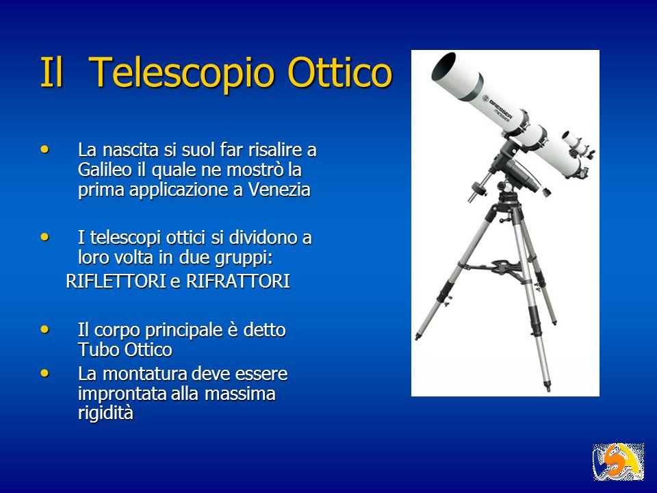 Il Telescopio Ottico La nascita si suol far risalire a Galileo il quale ne mostrò la prima applicazione a Venezia La nascita si suol far risalire a Ga