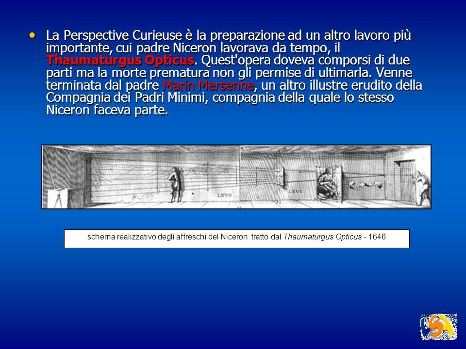 La Perspective Curieuse è la preparazione ad un altro lavoro più importante, cui padre Niceron lavorava da tempo, il Thaumaturgus Opticus. Quest'opera
