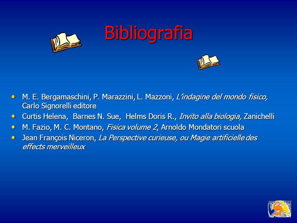 Bibliografia M. E. Bergamaschini, P. Marazzini, L. Mazzoni, Lindagine del mondo fisico, Carlo Signorelli editore M. E. Bergamaschini, P. Marazzini, L.