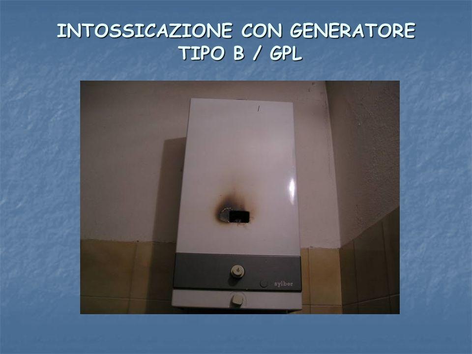 INTOSSICAZIONE CON GENERATORE TIPO B / GPL