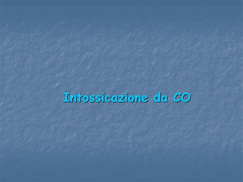Intossicazione da CO Intossicazione da CO