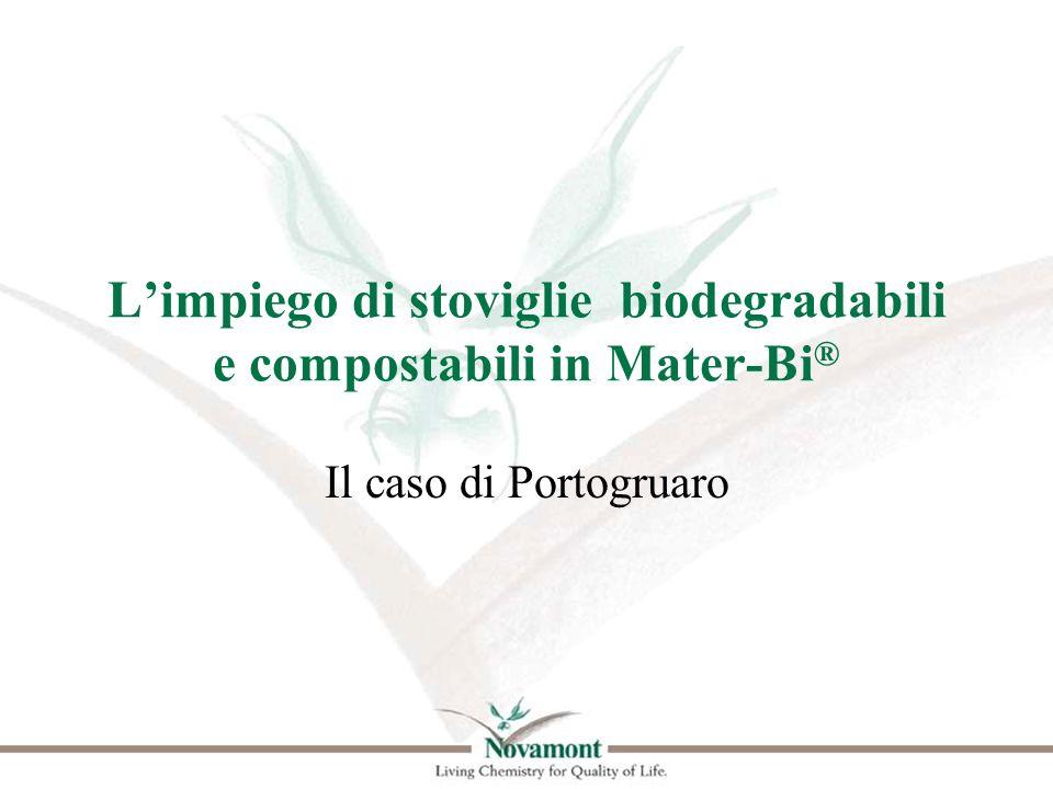Limpiego di stoviglie biodegradabili e compostabili in Mater-Bi ® Il caso di Portogruaro