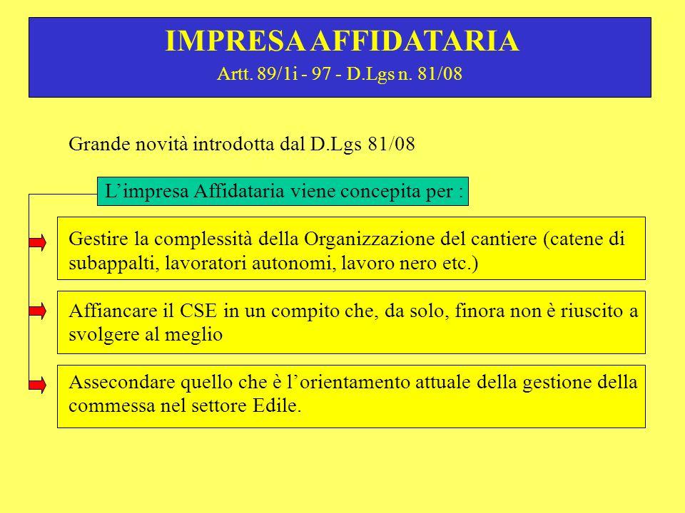 Artt.89/1i - 97 - D.Lgs n.