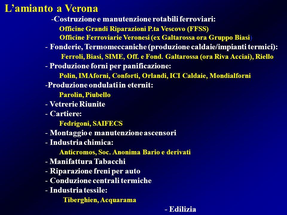 -Costruzione e manutenzione rotabili ferroviari: Officine Grandi Riparazioni P.ta Vescovo (FFSS) Officine Ferroviarie Veronesi (ex Galtarossa ora Grup