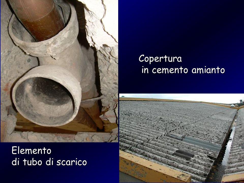 Copertura in cemento amianto in cemento amianto Elemento di tubo di scarico
