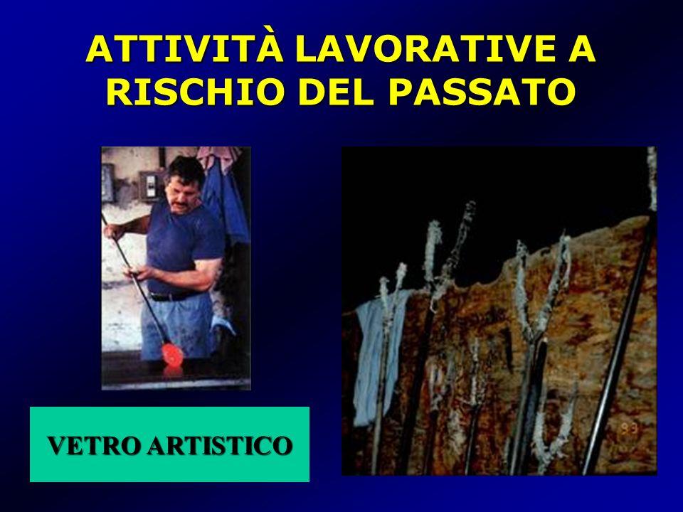 VETRO ARTISTICO VETRO ARTISTICO ATTIVITÀ LAVORATIVE A RISCHIO DEL PASSATO