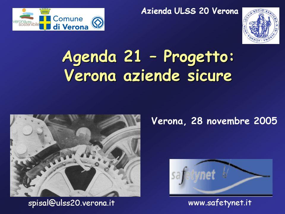 Agenda 21 – Progetto: Verona aziende sicure Verona, 28 novembre 2005 spisal@ulss20.verona.it www.safetynet.it Azienda ULSS 20 Verona