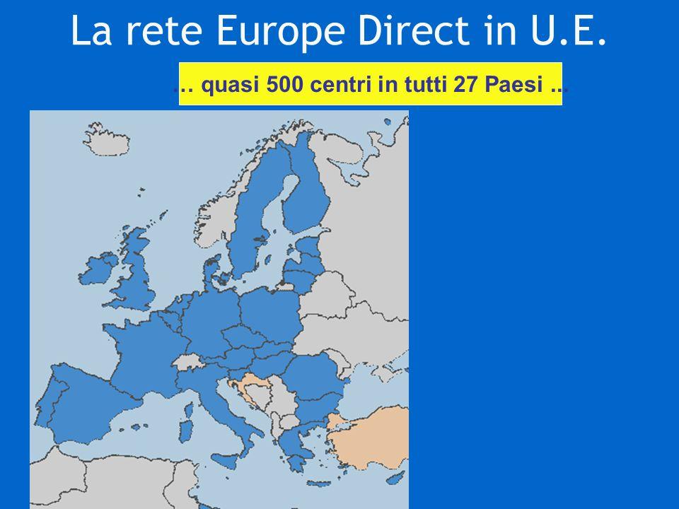 La rete Europe Direct in U.E. … quasi 500 centri in tutti 27 Paesi...