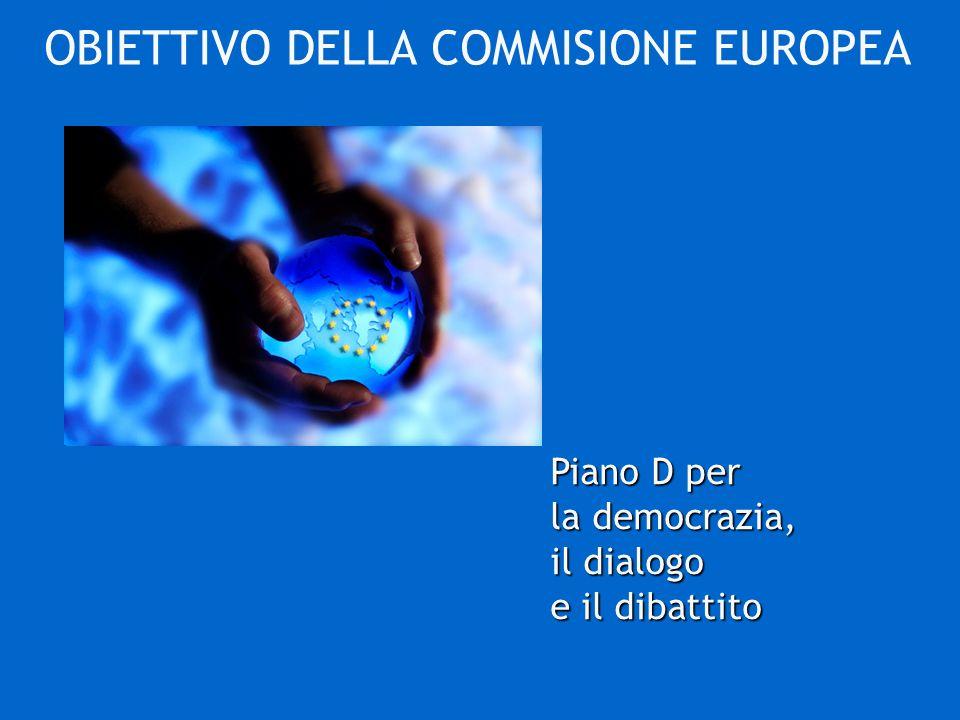 Piano D per la democrazia, il dialogo e il dibattito OBIETTIVO DELLA COMMISIONE EUROPEA