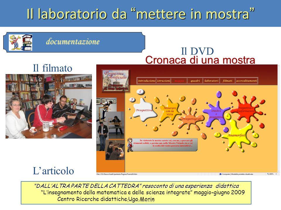 Il filmato Cronaca di una mostra Larticolo DALLALTRA PARTE DELLA CATTEDRA resoconto di una esperienza didattica Linsegnamento della matematica e delle