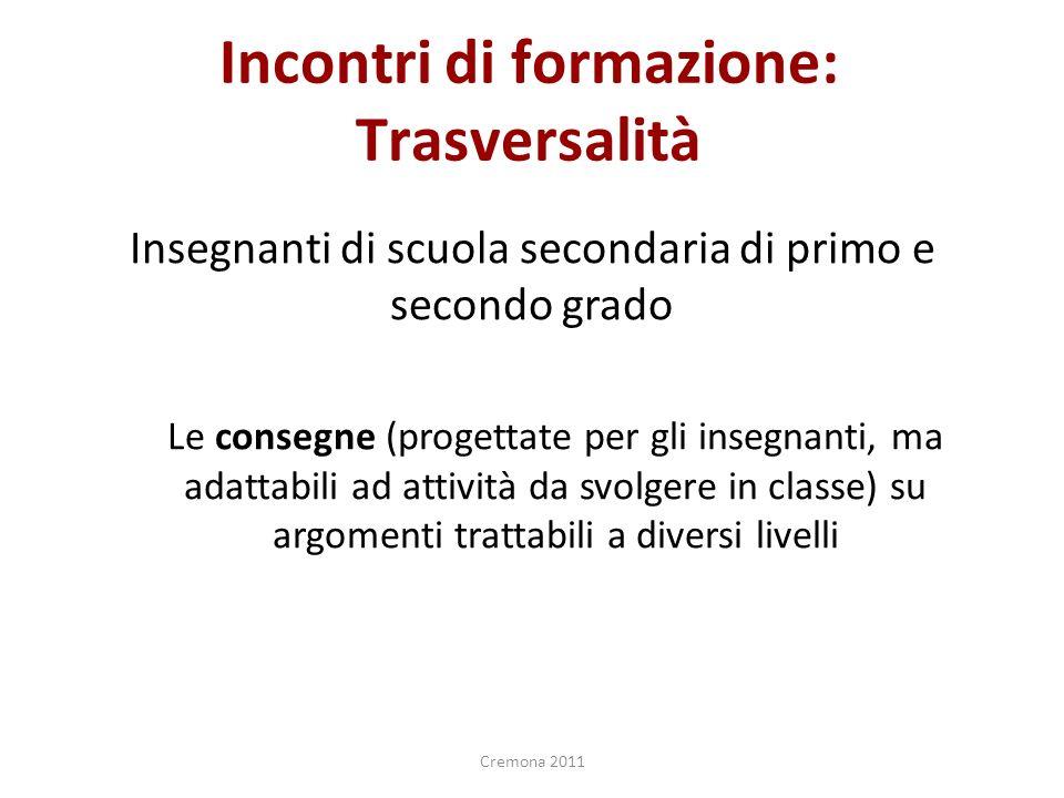 Cominciamo con la prima attività! Esplorazione ed analisi del compasso Cremona 2011