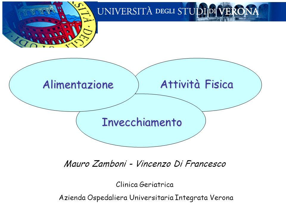 Alimentazione Clinica Geriatrica Azienda Ospedaliera Universitaria Integrata Verona Mauro Zamboni - Vincenzo Di Francesco Attività Fisica Invecchiamen
