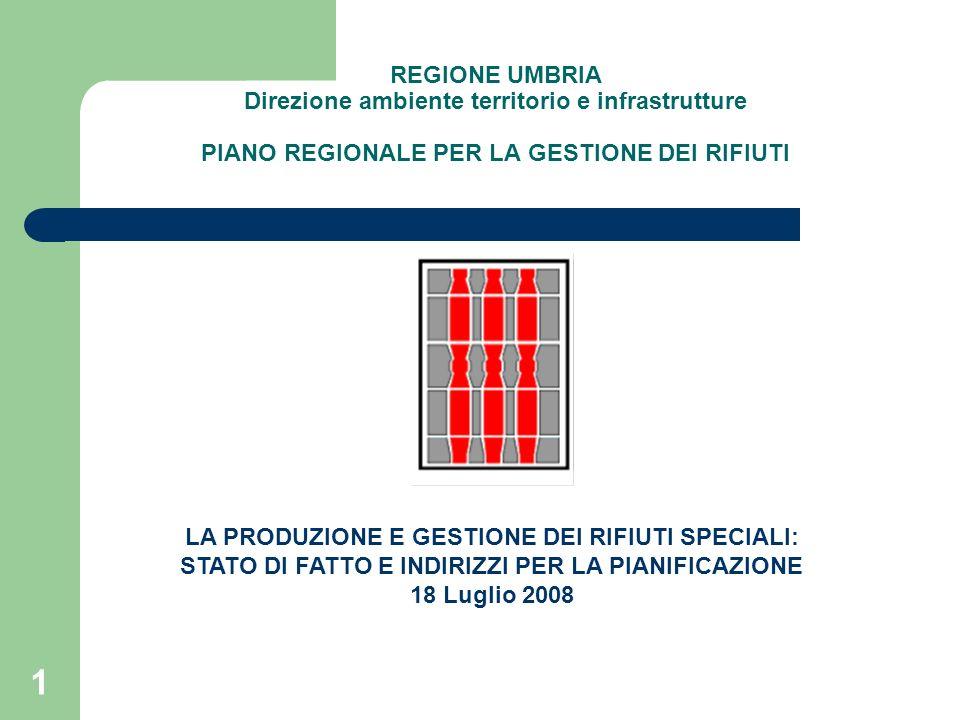 42 Piano Regionale di Gestione dei Rifiuti SCHEMI DI FLUSSO DELLE PRINCIPALI CATEGORIE DI RIFIUTI SPECIALI NON PERICOLOSI: Rifiuti inorganici provenienti da processi termici (CER 10; include Thyssenkrupp)