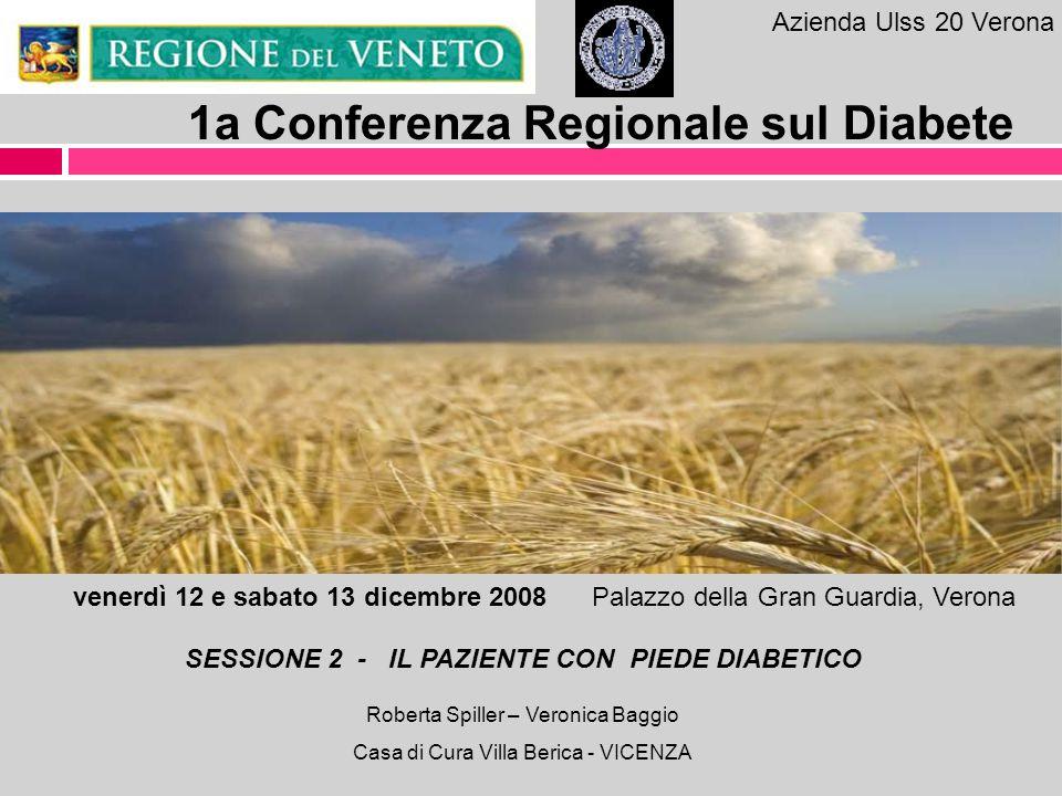 Azienda Ulss 20 Verona 1a Conferenza Regionale sul Diabete venerdì 12 e sabato 13 dicembre 2008 Palazzo della Gran Guardia, Verona SESSIONE 2 - IL PAZ