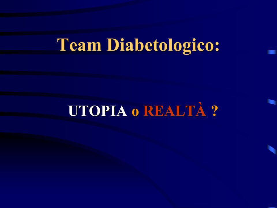 Team Diabetologico: UTOPIA o REALTÀ ?