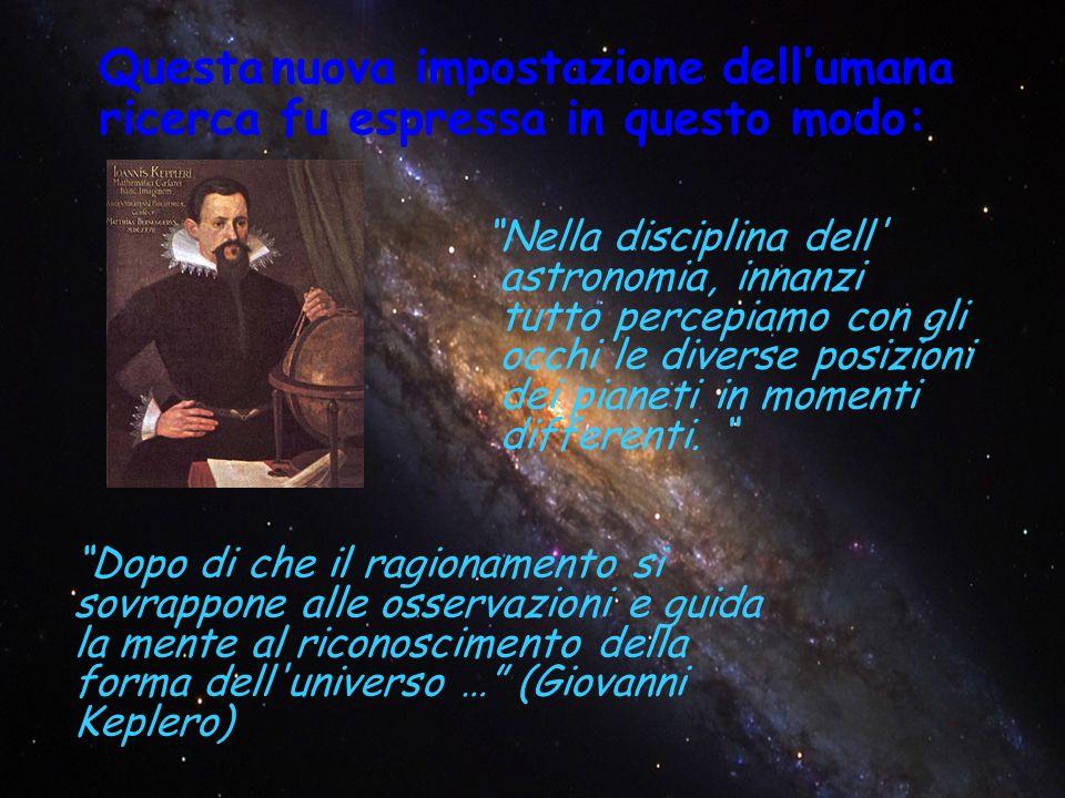 Nella disciplina dell astronomia, innanzi tutto percepiamo con gli occhi le diverse posizioni dei pianeti in momenti differenti.