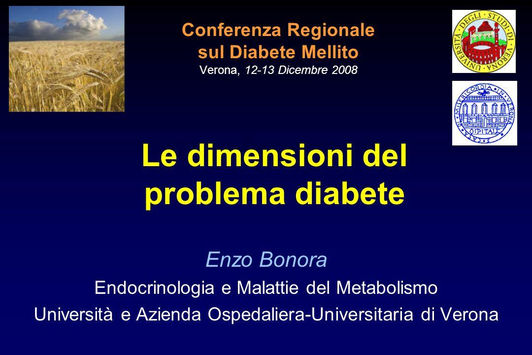 Conferenza Regionale sul Diabete Mellito Verona, 12-13 Dicembre 2008 Enzo Bonora Endocrinologia e Malattie del Metabolismo Università e Azienda Ospeda