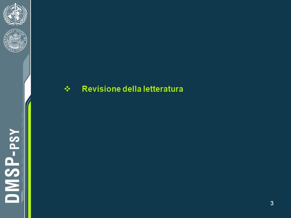 3 Revisione della letteratura