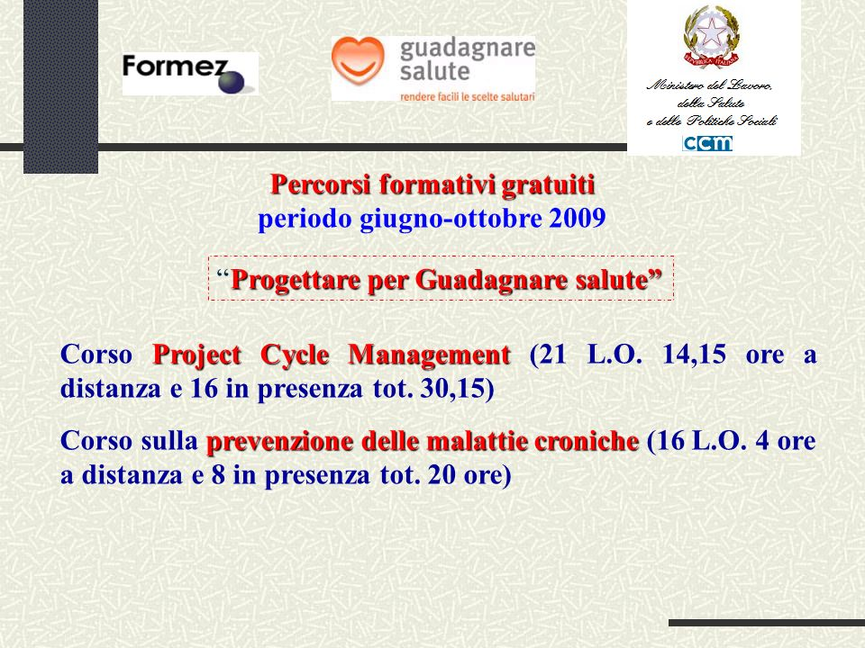 Project Cycle Management Corso Project Cycle Management (21 L.O.