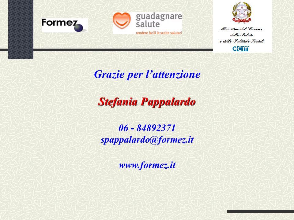 Grazie per lattenzione Stefania Pappalardo 06 - 84892371 spappalardo@formez.it www.formez.it