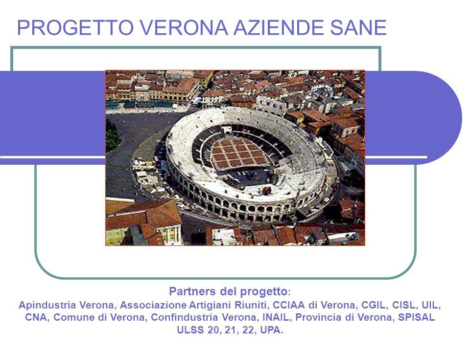 Partners del progetto : Apindustria Verona, Associazione Artigiani Riuniti, CCIAA di Verona, CGIL, CISL, UIL, CNA, Comune di Verona, Confindustria Ver