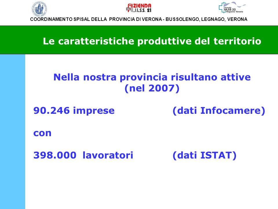 COORDINAMENTO SPISAL DELLA PROVINCIA DI VERONA - BUSSOLENGO, LEGNAGO, VERONA Infortuni mortali denunciati allINAIL nella provincia di Verona dal 2001 al 2007