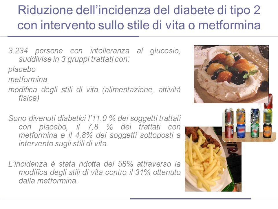 Riduzione del diabete mediante stile di vita o metformina – 10 anni dopo http://www.thelancet.com/journals/lancet/article/PIIS0140-6736(09)61457-4/abstract A distanza di 10 anni dallo studio precedente gli autori hanno indagato se leffetto osservato dellintervento persiste anche a lungo termine.