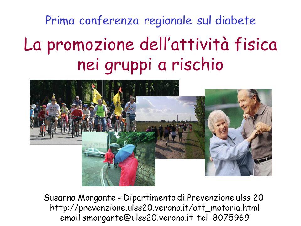 Prima conferenza regionale sul diabete Susanna Morgante - Dipartimento di Prevenzione ulss 20 http://prevenzione.ulss20.verona.it/att_motoria.html ema