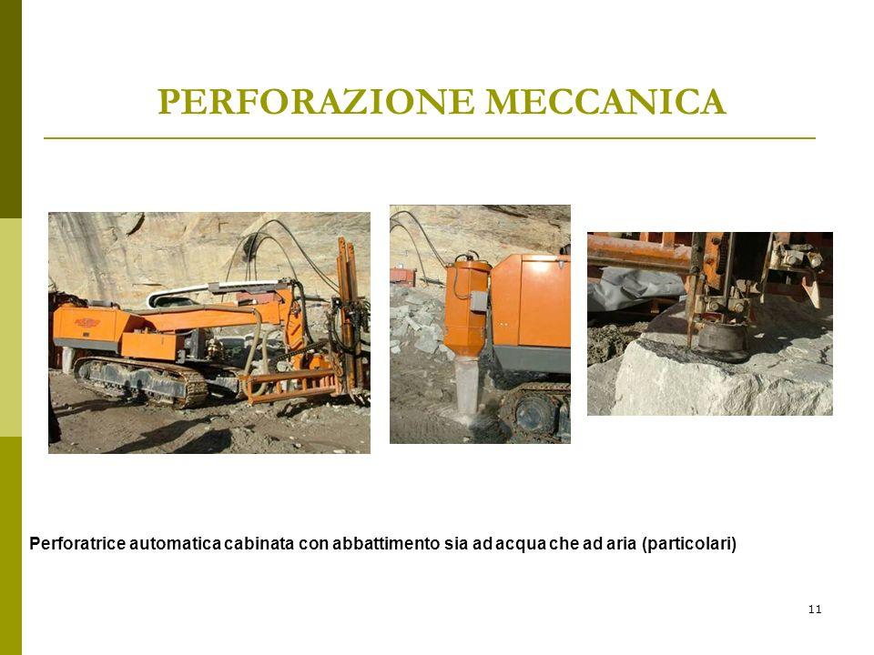 11 PERFORAZIONE MECCANICA Perforatrice automatica cabinata con abbattimento sia ad acqua che ad aria (particolari)